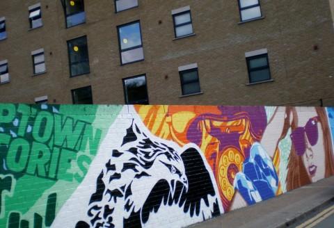 Street Art su Braithway Street, Shoreditch, London, 2014-2