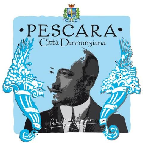 Il logo di Pescara, città dannunziana