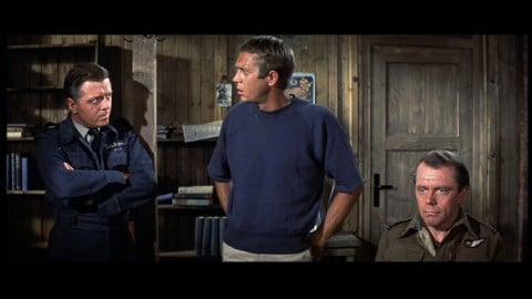 Richard Attenborough (a sx) ne La grande fuga