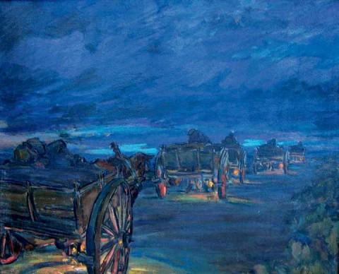Antonio Amore, Carretti verso l'alba, 1951