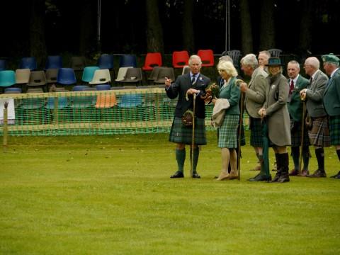 Ballater, Carlo e Camilla agli Highlands Game