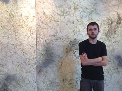 Cristiano Menchini e Tillandsia, Dittico - 235 x 460 cm, acquerello e acrilico su tela, 2013-14