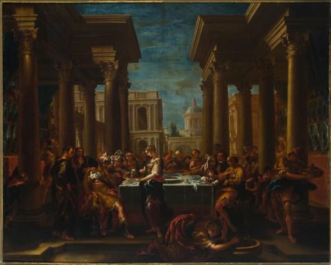 Francesco Perezzoli detto il Ferrarino – Il convito di Erode. Padova, Musei Civici