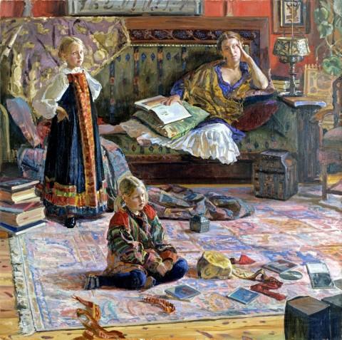 Ivan Glazunov, Ritratto di famiglia, 200x200, 2003