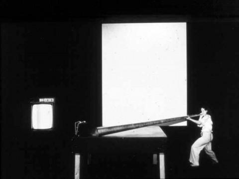 Joan Jonas Mirage (1976/1994/2005) Performance: Anthology Film Archives, New York, 1976 Photo: Babette Mangolte Courtesy the artist