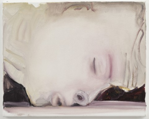 Marlene Dumas, The Kiss, 2003, olieverf op doek, 40 x 50 cm., particuliere collectie, Londen, copyright Marlene Dumas, foto Peter Cox