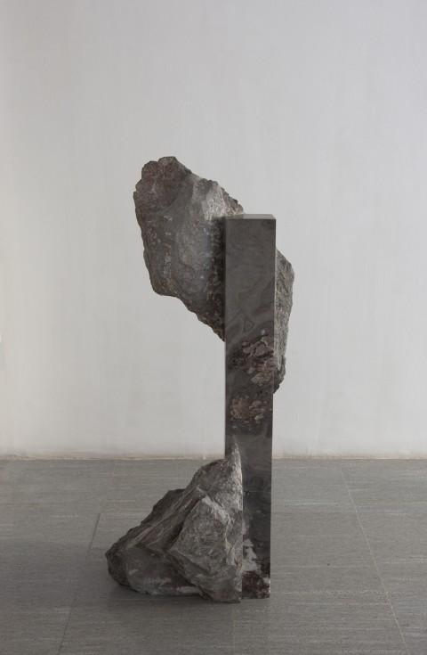 Mattia Bosco, Senza titolo, marmo (palissandro), 143x60x33 cm, 2012. Courtesy l'artista