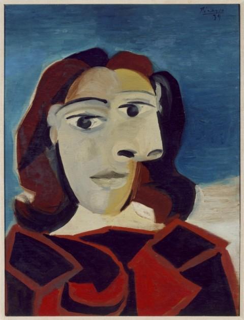 Pablo Picasso (Malaga 1881-Mougins 1973) Ritratto di Dora Maar 27  marzo 1939, olio su tavola, cm 60 x 45. Collezione del Museo  Nacional Centro de Arte Reina Sofía, Madrid, DE01840