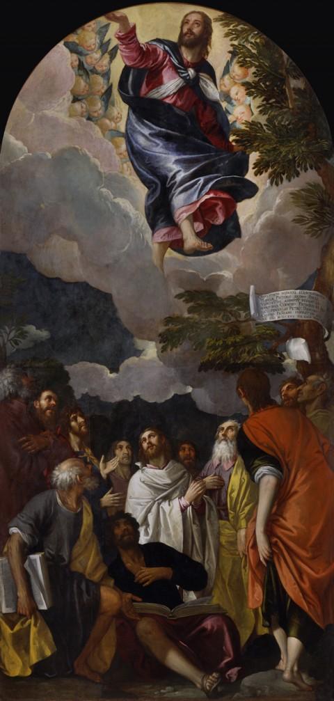 Paolo Veronese e Pietro Damini – L'Ascensione di Cristo, 1575. Padova, chiesa di San Francesco