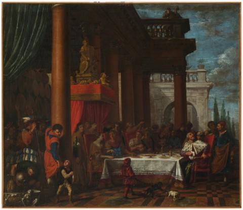 Valentin Lèfevre – Il convito di Antonio e Cleopatra. Padova, Musei Civici