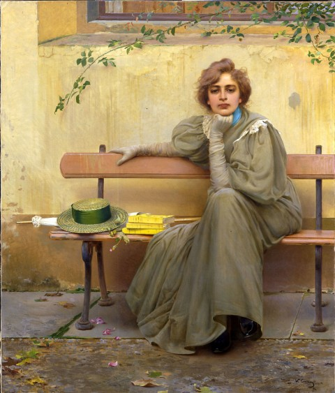 Vittorio Corcos, Sogni, 1896, Roma, Galleria Nazionale d'Arte Moderna. Su concessione del Ministero dei Beni e delle Attività Culturali e del Turismo