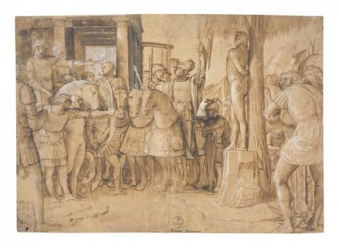Bramantino, Martirio di san Sebastiano, 1501-1503 ca