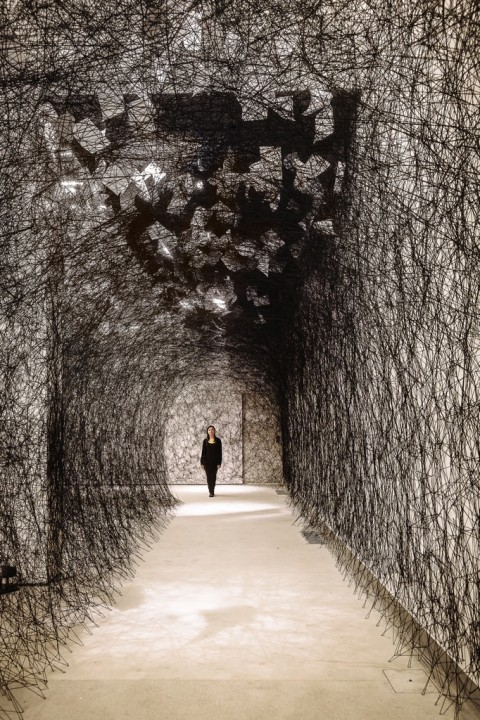 Chiharu Shiota, A Long Day, Tenuta Dello Scompiglio 2014 ©Photo Guido Mencari
