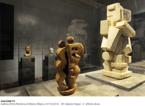 GIACOMETTI, Installation view on Alberto Giacometti, Galleria d'Arte Moderna di Milano, fino al 1 Febbraio 2015, foto F. Stipari