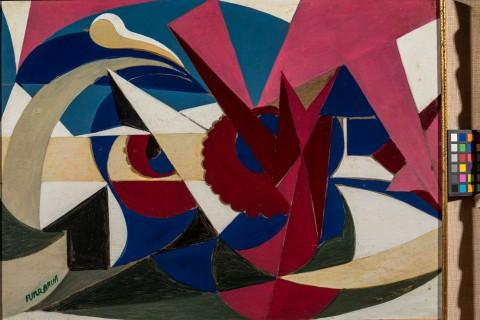 Giacomo Balla, Linee di forza di paesaggio maiolicato, 1917-18 - Fondazione Biagiotti Cigna © Giacomo Balla by SIAE 2014