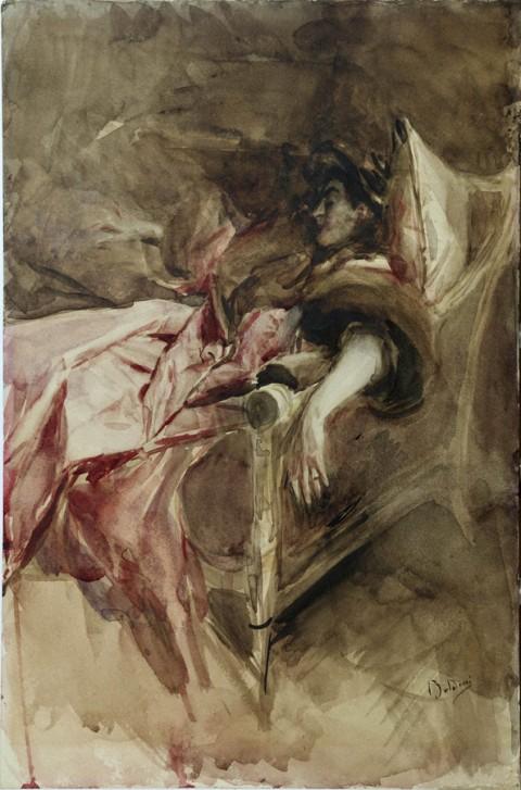 Giovanni Boldini, Signora in rosa, 1895 ca., courtesy Fondazione Cariparma