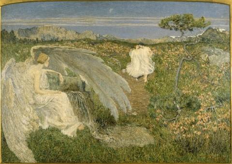 Giovanni Segantini, L'Amore alla fonte della vita, 1896 - Milano, Galleria d'Arte Moderna