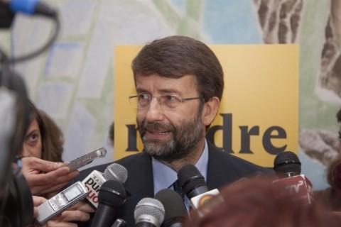 Il Ministro Dario Franceschini al Museo Madre, Napoli 2014 (foto Amedeo Benestante)