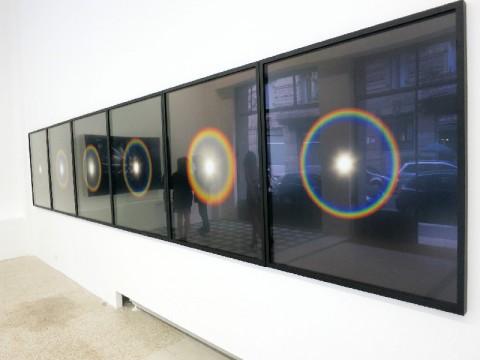 Kimsooja, Installation view To Breathe: The Sun – Unfolded, Galleria Raffaella Cortese, Milano, 2014