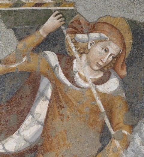 Maestro d iSan'Ambrogio - San Giorgio, particolare - Brescia, Pinacoteca Tosio Martinengo
