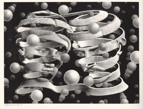 Maurits Cornelis Escher - Vincolo d'unione, 1956. Collezione Federico Giudiceandrea © 2014 The M.C. Escher Company. All rights reserved