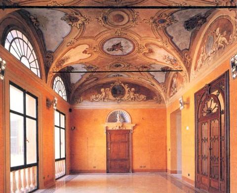 Palazzo Magnani - loggia primo piano