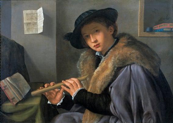 Savoldo - Ritratto di Giovane con Flauto - Brescia, Pinacoteca Tosio Martinengo