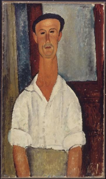 Amedeo Modigliani - Gaston Modot (1918, olio su tela cm 92x53. Centre Pompidou, Parigi)