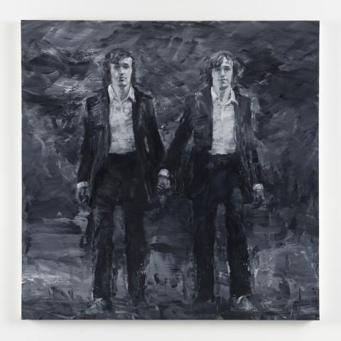 Yan Pei-Ming, Jumeaux, 2014 - Fotografia: André Morin - ©Yan Pei-Ming, ADAGP, Paris, 2014 - Courtesy l'artista e Massimo De Carlo, Milan/London
