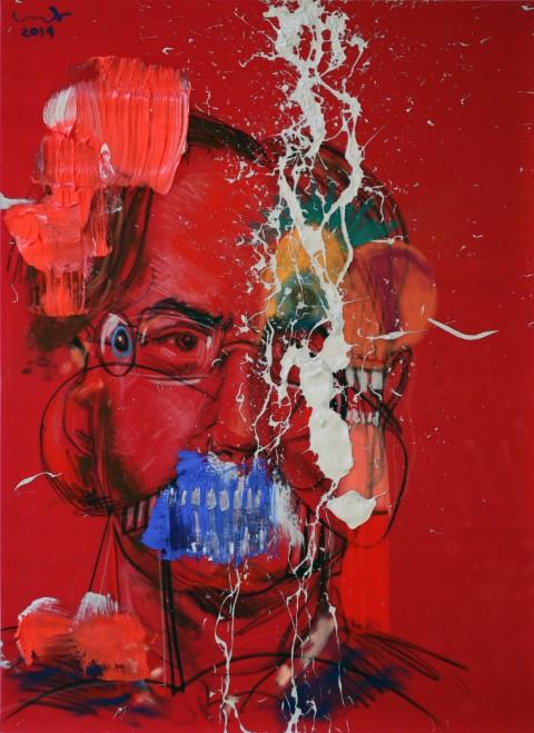 George Condo, Abstractions of Sergio, 2014 - Courtesy l'artista e Skarstedt, New York - © George Condo 2014