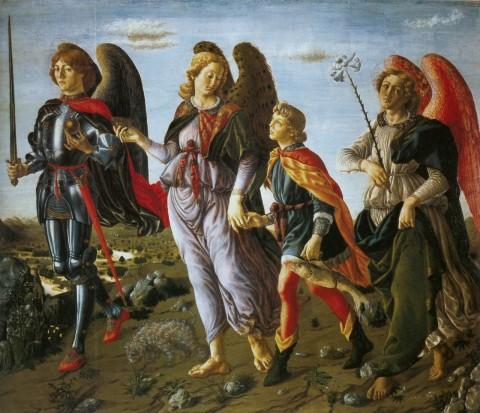 Antonio Pollaiolo e Botticini, I tre arcangeli e Tobiolo - Galleria degli Uffizi