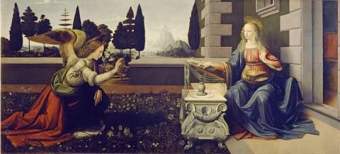 Antonio del Pollaiolo e Leonardo, Annunciazione - Galleria degli Uffizi, Firenze