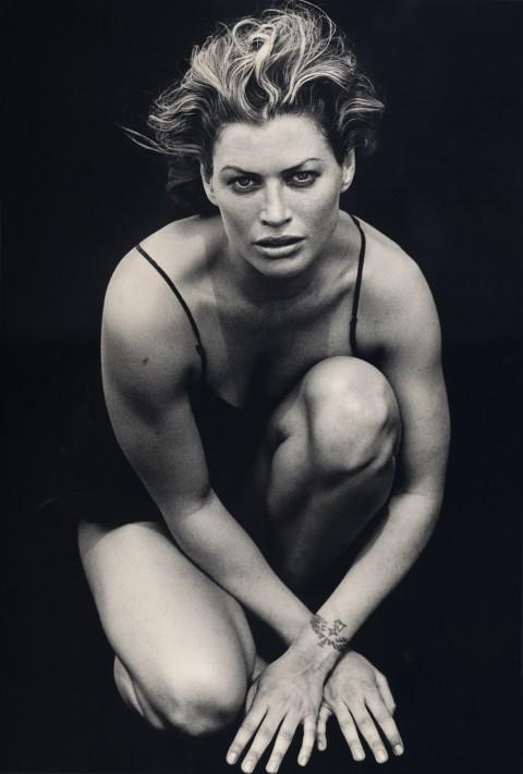 Peter Lindbergh per Calendario Pirelli - Carrie Otis, El Mirage, California, Stati Uniti 1996