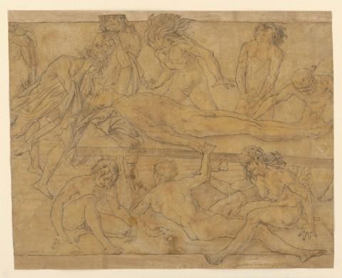 Da Antonio del Pollaiolo, Compianto su un eroe morto, 1470-1480 - ©Monaco di Baviera, Staatliche Graphische Sammlung