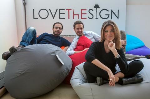 Da sinistra Vincenzo Cannata, Simone Panfilo e Laura Angius, i tre fondatori di LOVEThESIGN – Photo Credits Giovanni Tagini