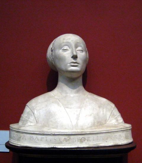 Francesco Laurana, Ritratto di Battista Sforza – Museo del Bargello, Firenze