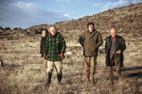 Gianni Pettena, Tom Kass, Robert Smithson, Lawrence Alloway. Salt Lake City, 1972