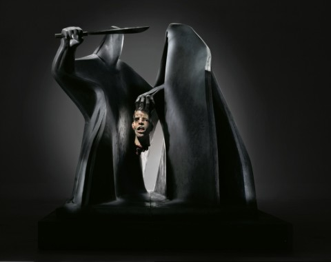 Giuliano Vangi, C'era una volta,  2005, resina dipinta, cm.218x275x205