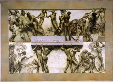 Giulio Aristide Sartorio, Il Poema della vita umana, ciclo pittorico realizzato per la Biennale d'Arte del 1907