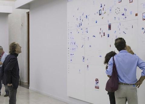 Giuseppe Stampone - Odio gli indifferenti - veduta della mostra presso Palazzo Poli, Roma 2014