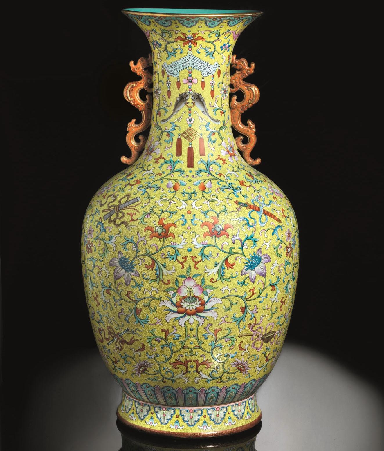 Vaso cinese della dinastia qing venduto all 39 asta for Vasi cinesi antichi antiquariato