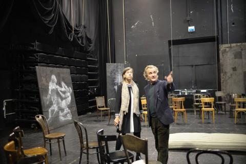 L'allestimento delle opere di Luca Pignatelli per il Progetto Ritsos, photo Michele Lamanna