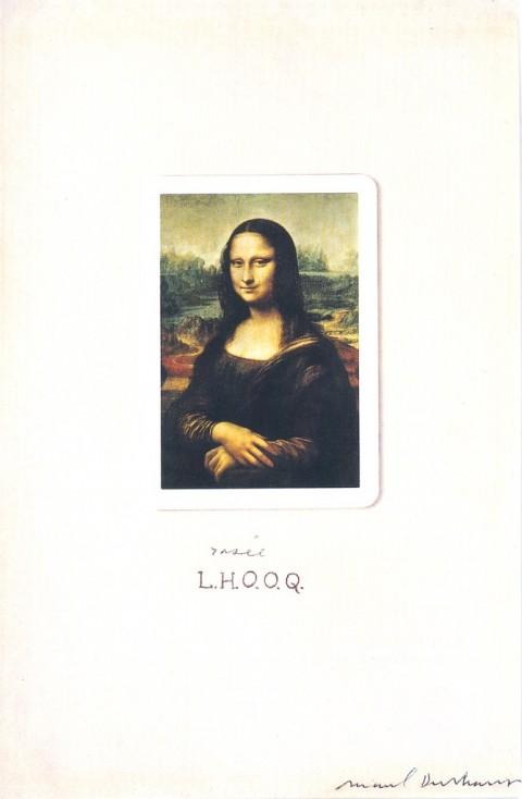 Marcel Duchamp, L.H.O.O.Q. rasée, New York, 1965. Collezione Hummel, Vienna
