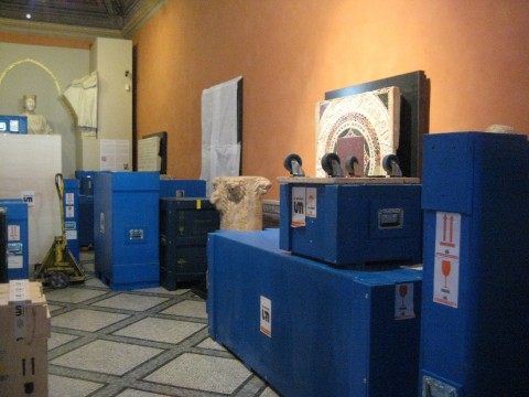 Musei Capitolini, Le casse nella Sala del Medioevo (27 maggio 2014)