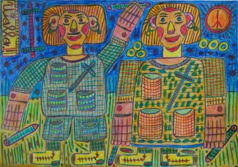 August Walla, Pfleger und Mutter, 2000