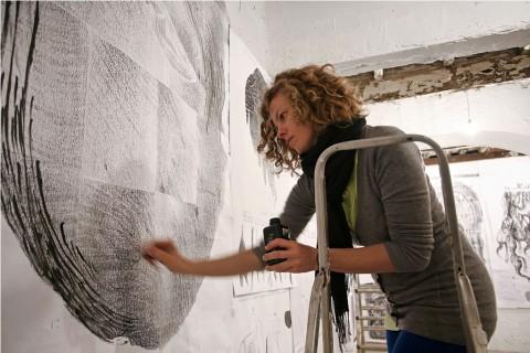 Sissi al lavoro alla Fondazione Volume, Roma 2012 - photo Federico Ridolfi