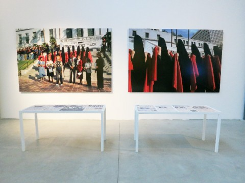 Suzanne Lacy - Gender Agendas - veduta della mostra presso il Museo Pecci, Milano 2014