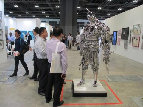 Ren Zhe, Gallery: Hakaren Art Gallery, Singapore art fair 2014 (foto Chiara Cecutta)
