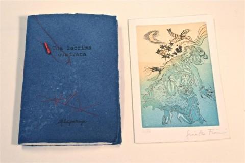 ''Una lacrima quadrata'', poesie di Alfonsina Storni. Acquaforte-acquatinta dell'artista Giosetta Fioroni. Pubblicato nel 2014. Tiratura 80 copie