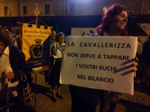 Proteste in difesa della Cavallerizza di Torino